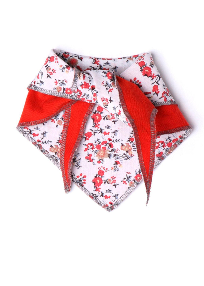 Red Floral Reversible Bandana