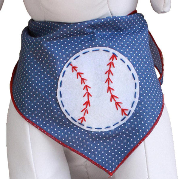 Baseball Dog Bandana