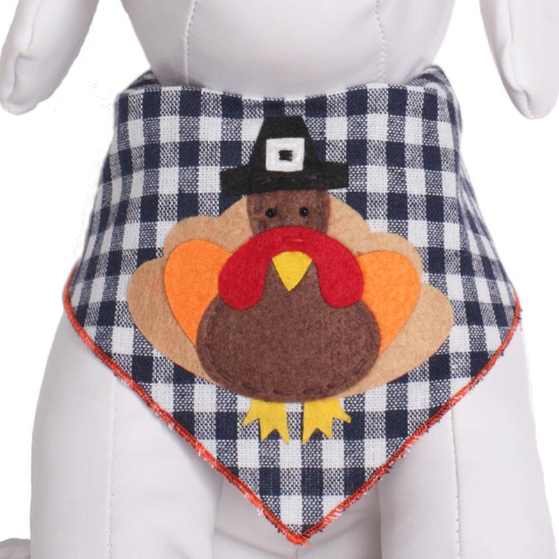 Turkey Navy White Plaid