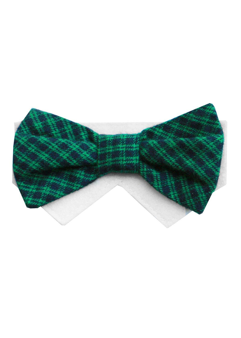 Sunday- Navy, Green Bow Tie
