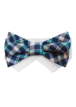 Monday- Navy,Beige, Green Bow Tie