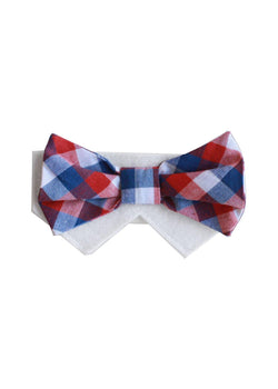 Wednesday- Red,White,Blue Bow Tie