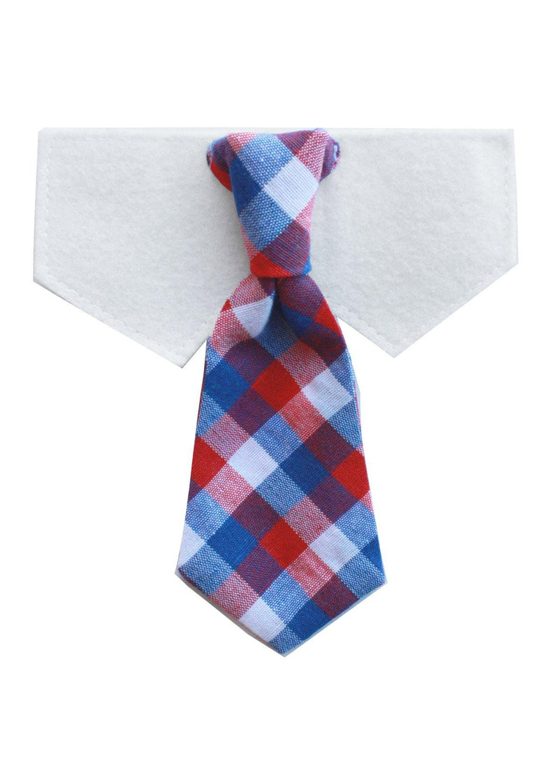 Wednesday- Red,White,Blue Neck tie