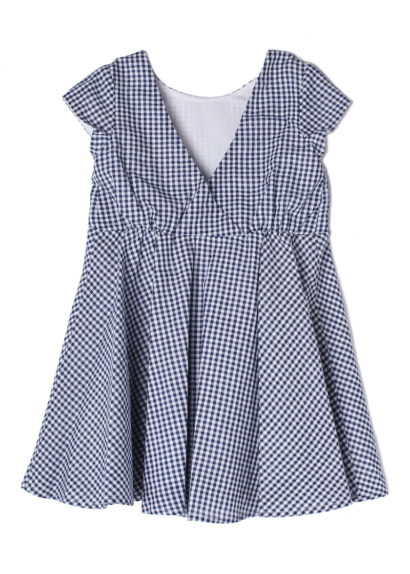 Set Sail Cap Sleeve Navy Dress