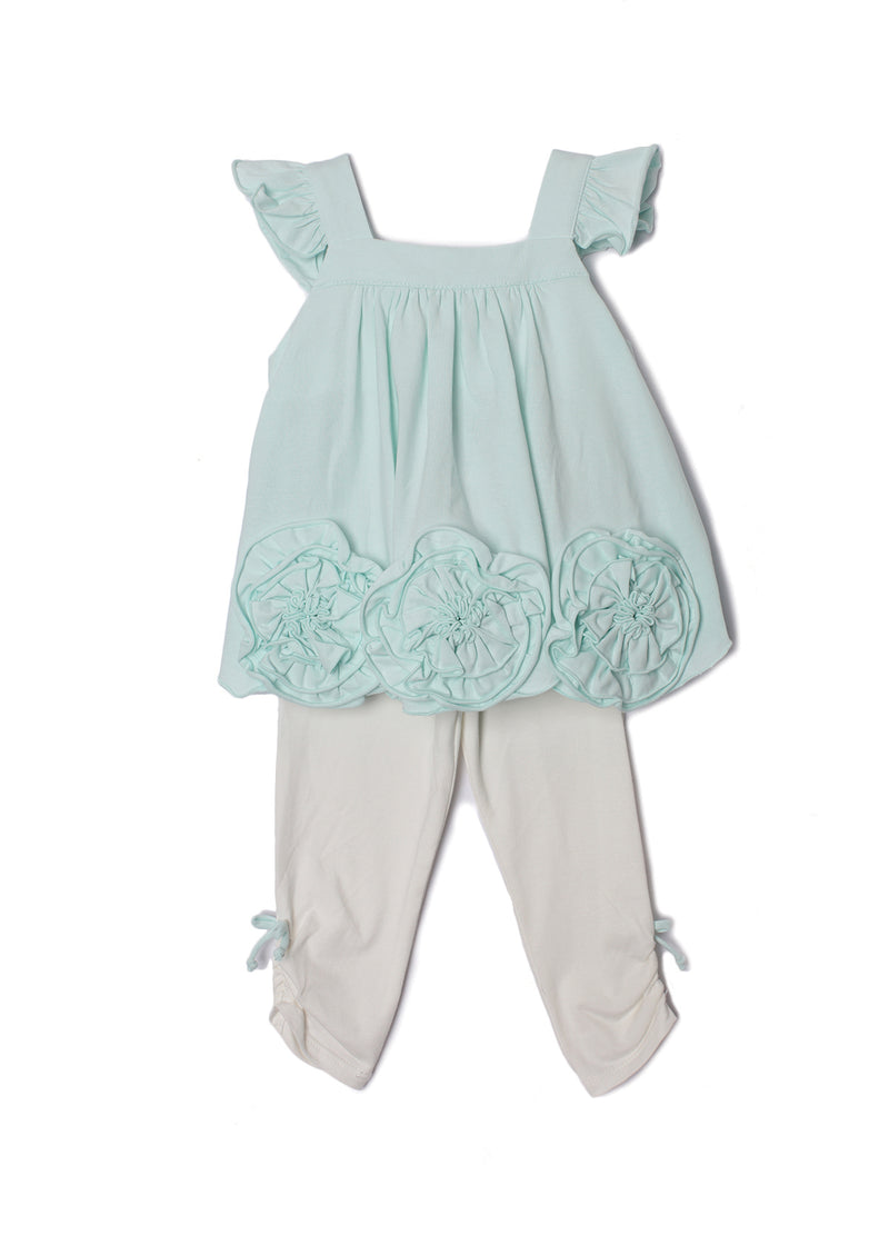 Flora Dance Light Blue Toddler 2 PC Set