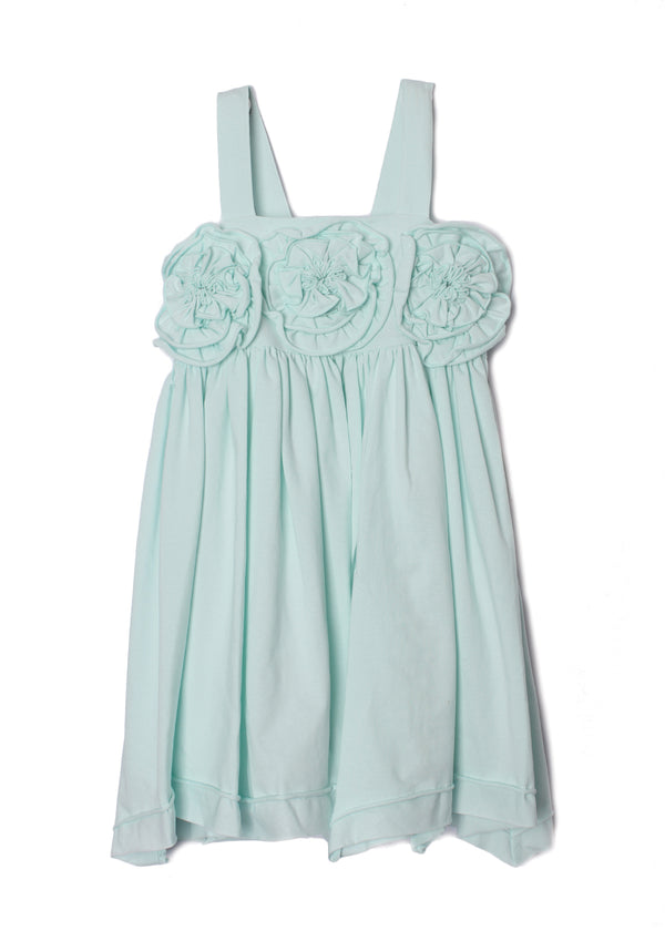Flora Dance Light Blue Empire Waist Dress