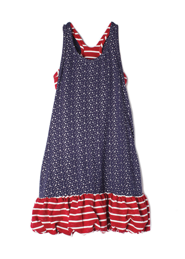 Pearlette Navy Little Big Girl Dress