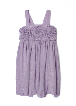 Flora Dance Empire Dress in Purple