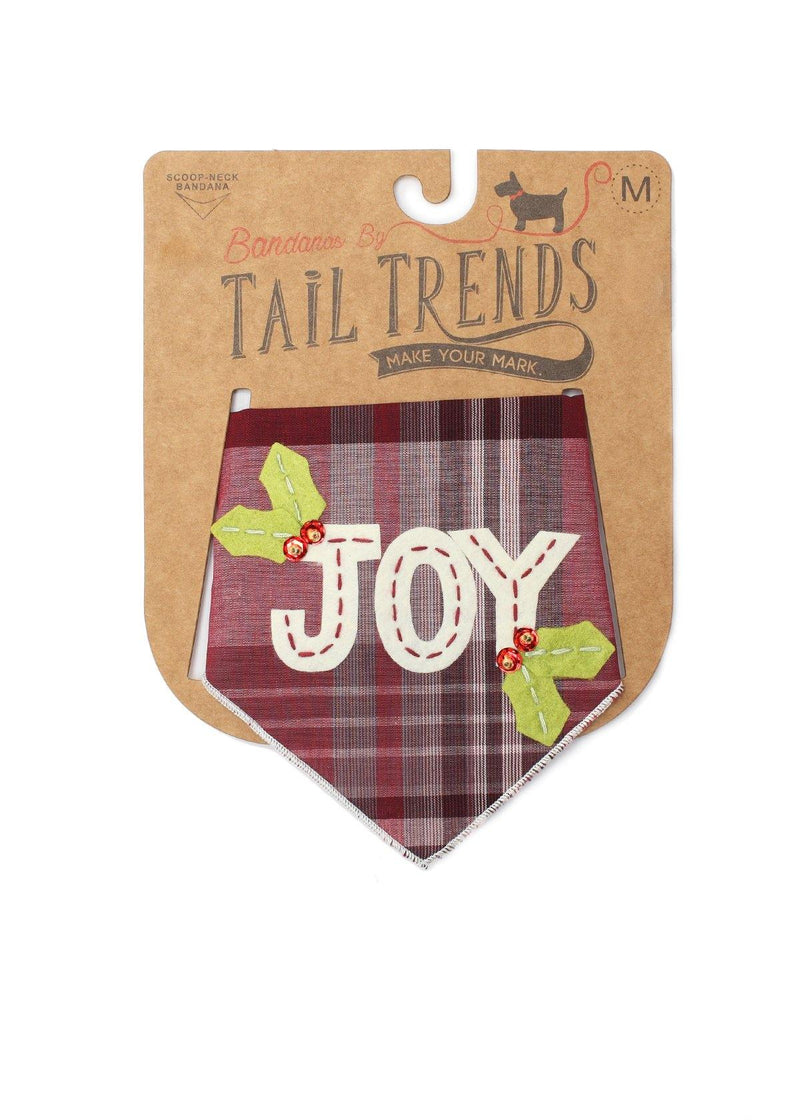 Joy Christmas Dog Bandana