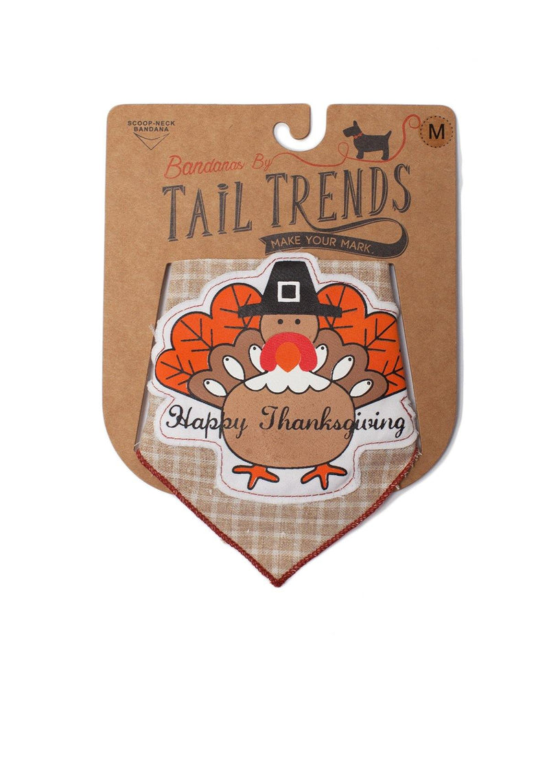 Thanksgiving Turkey Brown Bandana