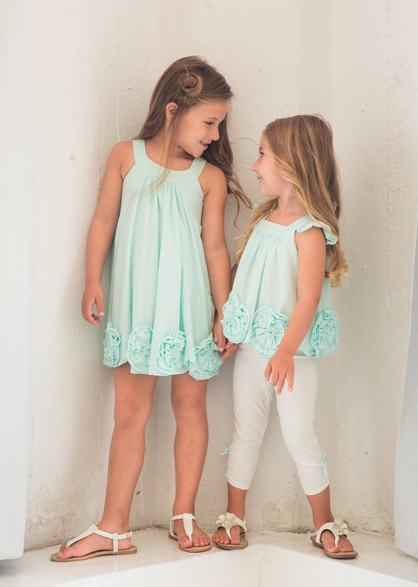 Flora Dance Light Blue 2 PC Set