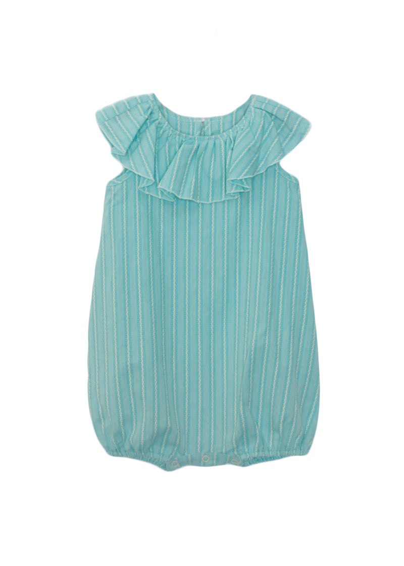 Woven Striped Baby Toddler Romper