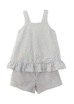 Tank Top Gray Stripe Knit 2pc Set