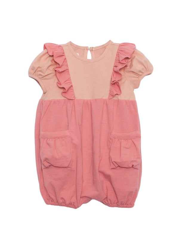 Short Sleeve Romper Coral