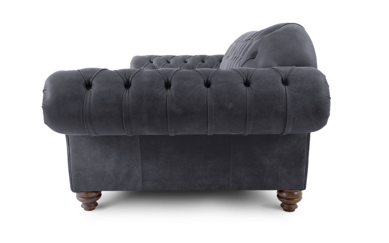 Victor Rustic Leather Chesterfield