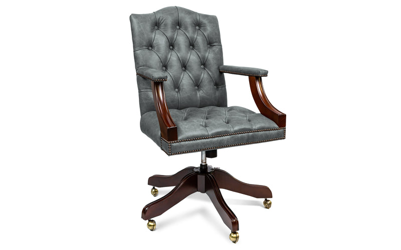 Pearl Vintage Leather Desk Chair
