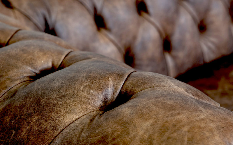 Monty Vintage Leather Chesterfield