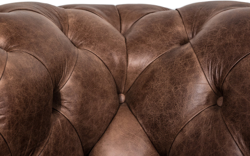 Huxley Vintage Leather Chesterfield