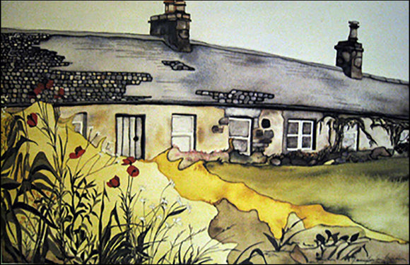 Niel Gow's Cottage - Large Art Print