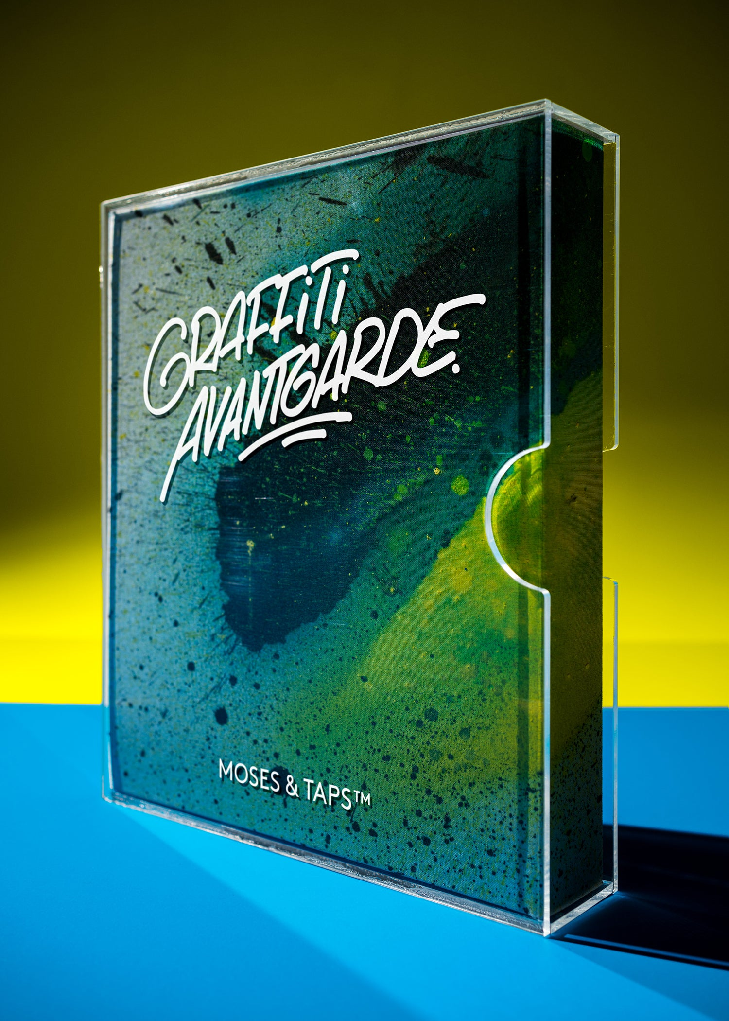 GRAFFITI AVANTGARDE MOSES AND TAPS BOOK THE GRIFTERS PUBLISHING SPLASH DELUXE EDITION UNIQUE HANDPAINTED COVER ACRYLIC SLIPCASE SIGNED