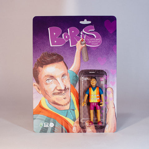 Good Guy Boris Action Figure Collector Limited Edition Handmade Resin Sclupture Collectable Graffiti Pablo Perra The Grifters Graffiti Toy