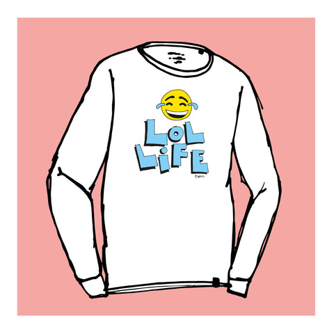 LOL LIFE - Long Sleeve Shirt by Good Guy Boris