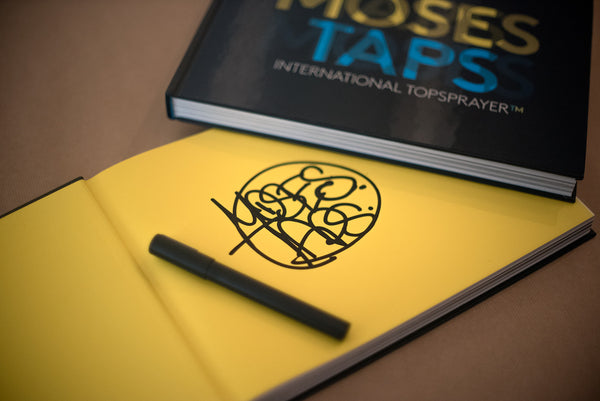 SIGNED COPIES OF THE BOOK INTERNATIONAL TOPSPRAYER BY MOSES AND TAPS - THE GRIFTERS