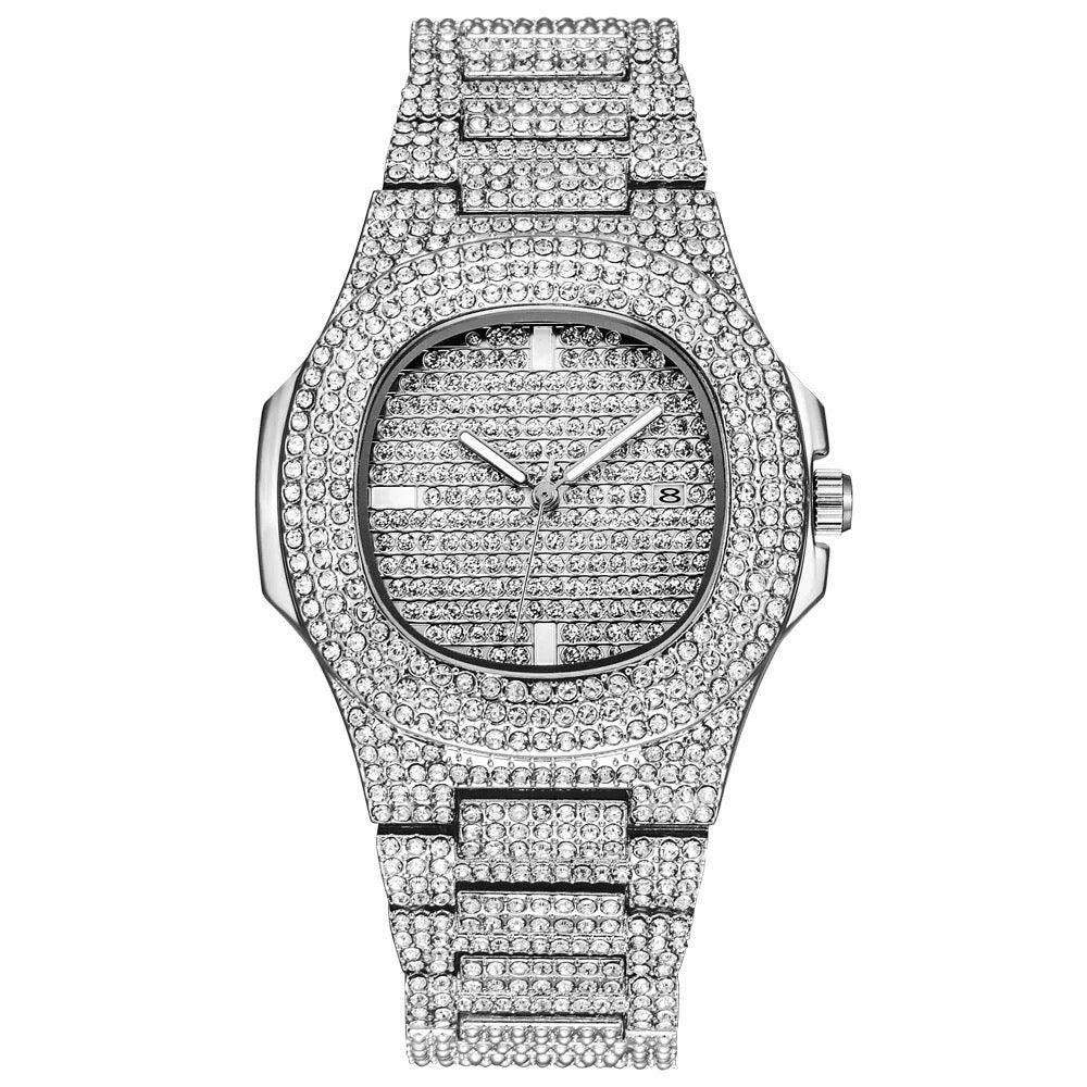 White Gold Miami Watch