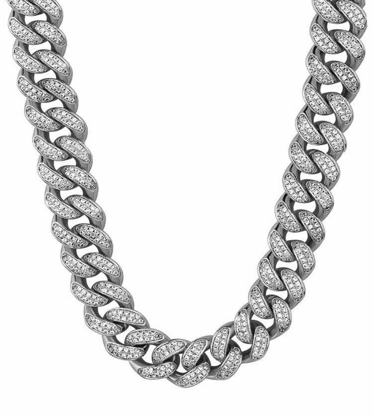 White Gold Cuban Link Chain