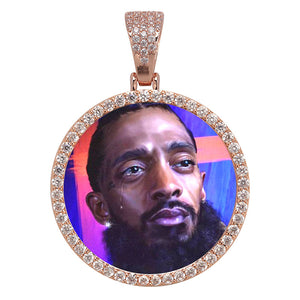 Iced Custom Photo Pendant
