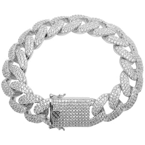 White Gold Cuban Link Bracelet
