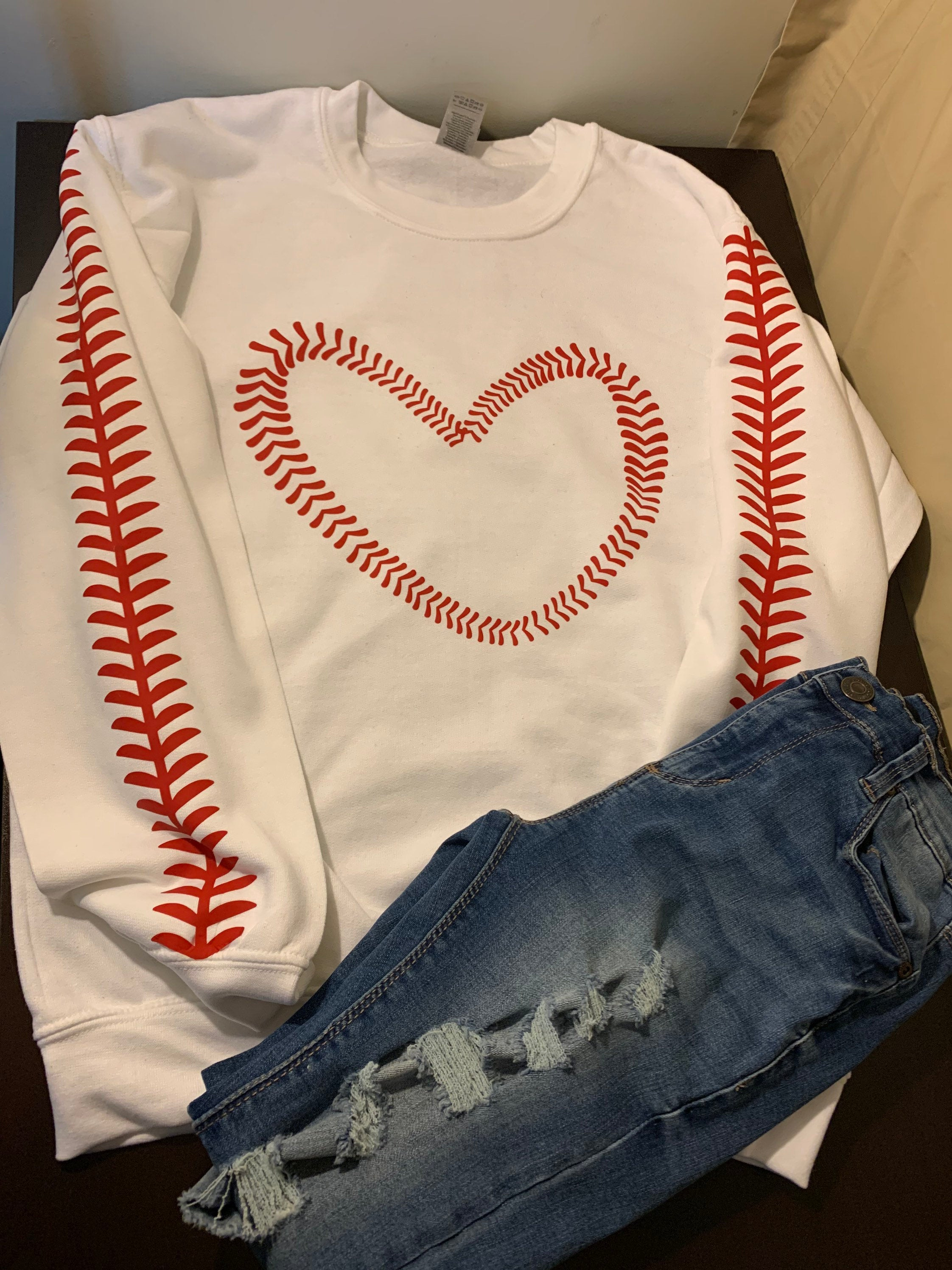 Baseball stitching sweatshirt