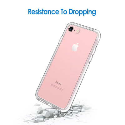 Evolveley's Case for Apple iPhones, Shock-Absorption Bumper Cover, Anti-Scratch Clear Back (HD Clear)