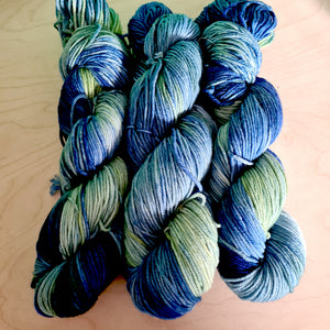 Superwash Fine Merino  blau/grün