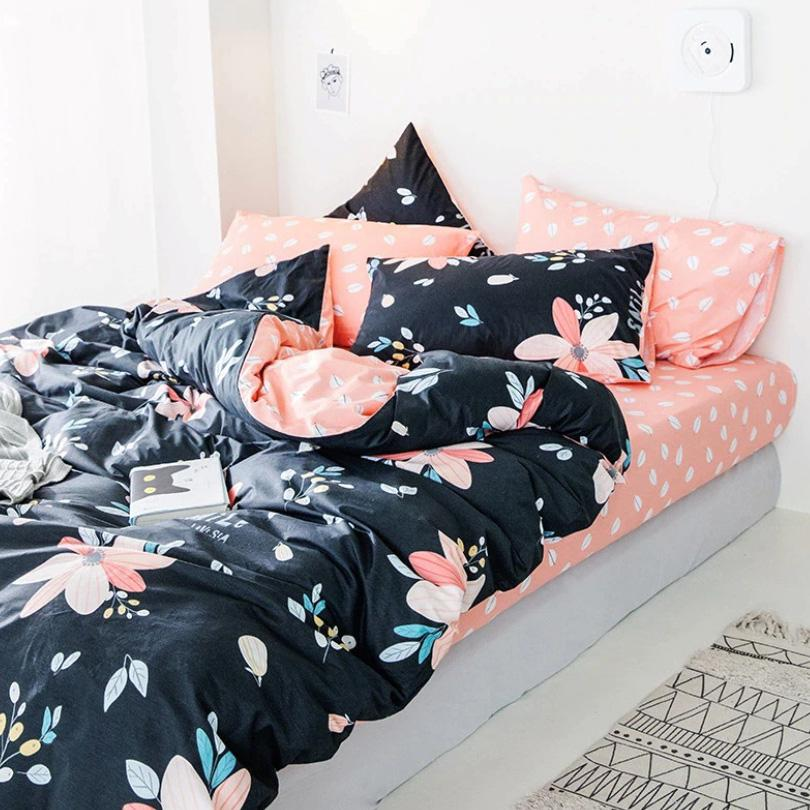 Set de Cama Blue&Pink Flower