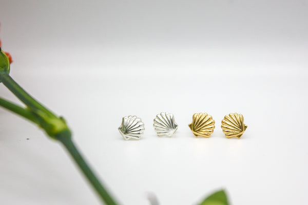Seashell Mini Studs Sterling Silver