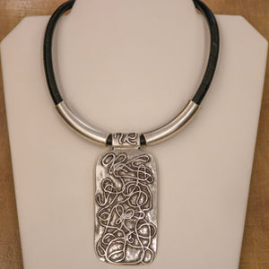 SERAGLIO Choker Abstract Necklace - on white background