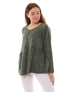 BOHEMIAN FASHIONS Cotton Jumper  - khaki (side view)