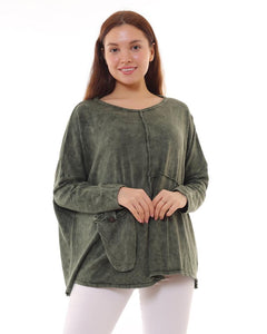 BOHEMIAN FASHIONS Cotton Jumper - khaki
