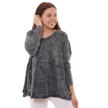 Load image into Gallery viewer, BOHEMIAN FASHIONS Cotton Jumper - charcoal