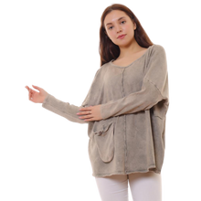 Load image into Gallery viewer, BOHEMIAN FASHIONS Cotton Jumper - sand