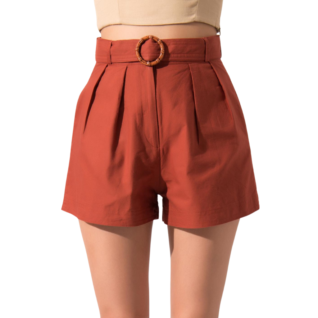 BSL Brick Belted Shorts
