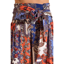 Load image into Gallery viewer, BSL Wide Leg Trousers - navy (close up view)