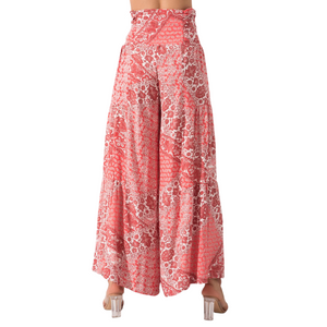 BSL Wide Leg Trousers - pink (back)