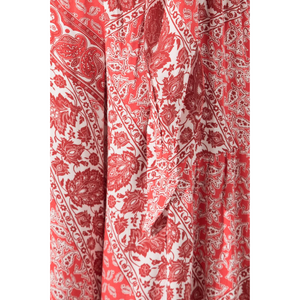 BSL Wide Leg Trousers - pink (pattern detail)