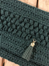 Load image into Gallery viewer, CAK Forest Green Clutch - close up look