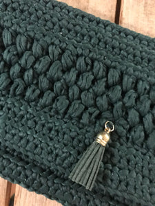 CAK Forest Green Clutch - close up look