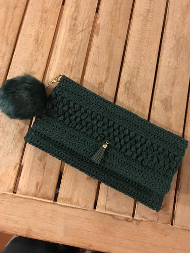 CAK Forest Green Clutch