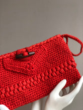 Load image into Gallery viewer, CAK Tangerine Crochet Clutch - close up look