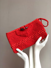 Load image into Gallery viewer, CAK Tangerine Crochet Clutch
